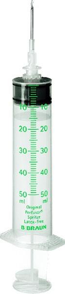 Perfusor-Spritze mit Aufziehkanüle  50ml