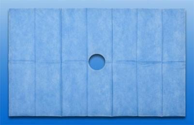 Abdecktuch mit Loch, steril 45x75 cm
