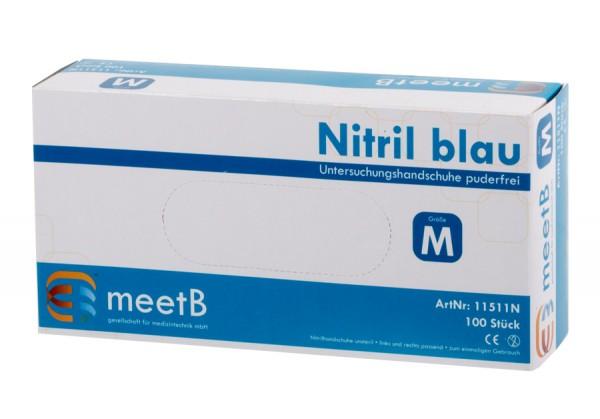 "Nitril Untersuchungshandschuhe ""M"" blau meetB"