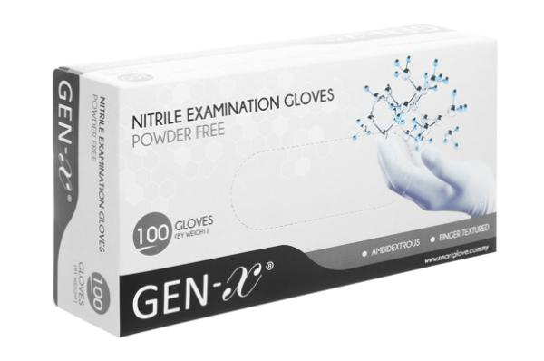 """Nitril Handschuh Gen-X """"M"""" blau"""