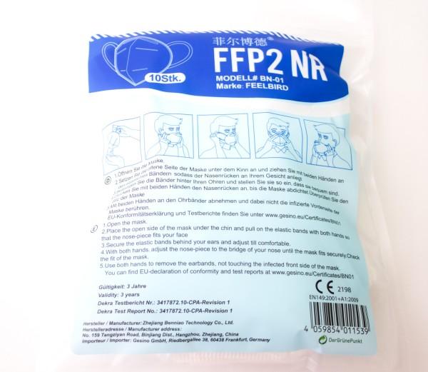 Filtermaske nach EN 149 FFP 2 ohne Ventil