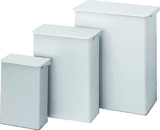 Abfallbehälter OPHARDT aus Aluminium elox 15 Liter