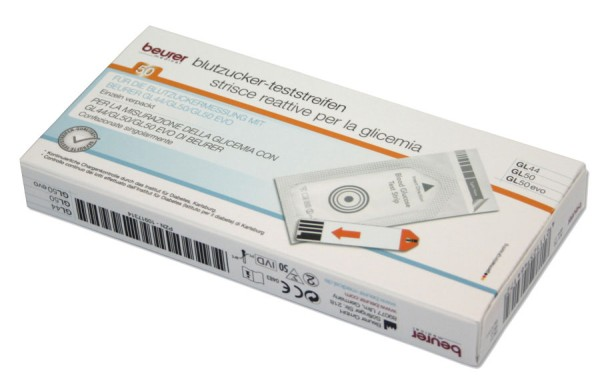 Beurer GL 44 / GL 50 Teststreifen einzeln verpackt