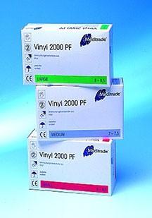 Vinyl U-Handschuhe unsteril, puderfrei L