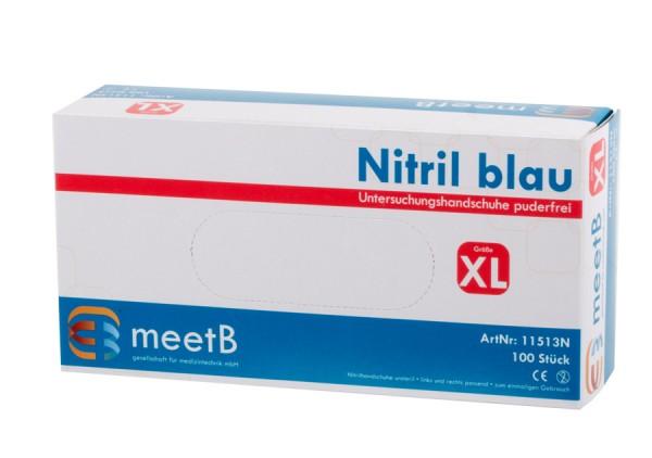 "Nitril Untersuchungshandschuhe ""XL"" blau  meetB"