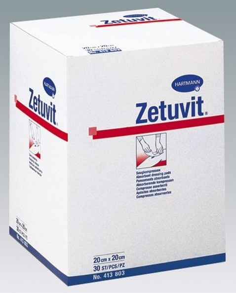 ZETUVIT Saugkomp. steril 20 x 20 cm