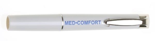 Diagnoselampe mit Clipschalter aus Metall weiß