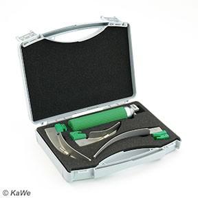Set Kaltlicht Laryngoskop Economy Griff + 3 Spatel