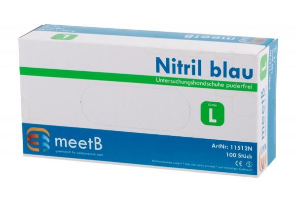 """Nitril Untersuchungshandschuhe """"L"""" blau  meetB"""