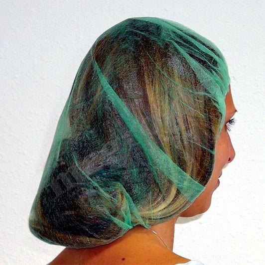 Kopfhauben einfach,rund,grün