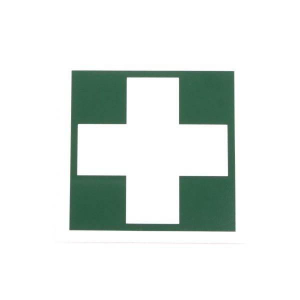 Rettungszeichen Erste Hilfe Kreuz 50x50mm