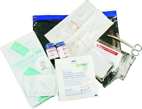 Abnabelungsbesteck in Gleitverschlusstasche