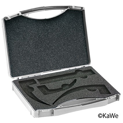 Laryngoskop Koffer für 3 Spatel + 1 Griff, leer