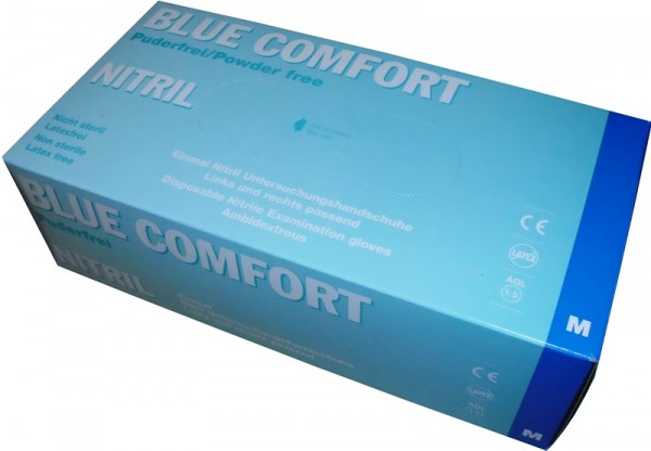 Untersuchungshandschuh Blue Comfort Nitril blau M