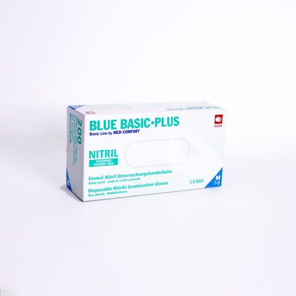 Untersuchungshandschuh Blue Basic-Plus Nitril M