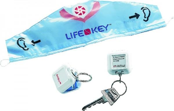AMBU Life-Key i.roten Kunststoff-Schlüsselanhänger