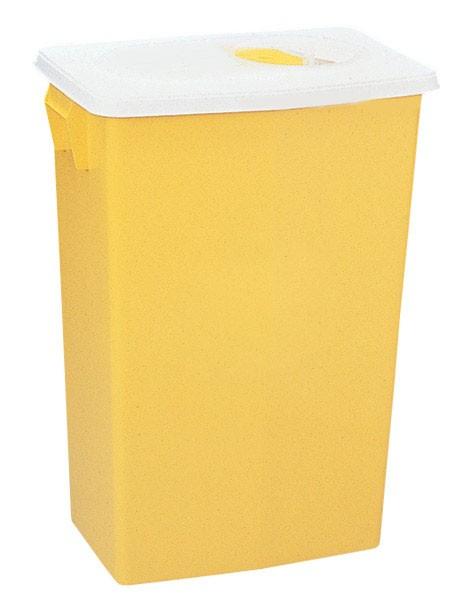 Kanülenabwurf Container  32,0 Liter Deckel in gelb