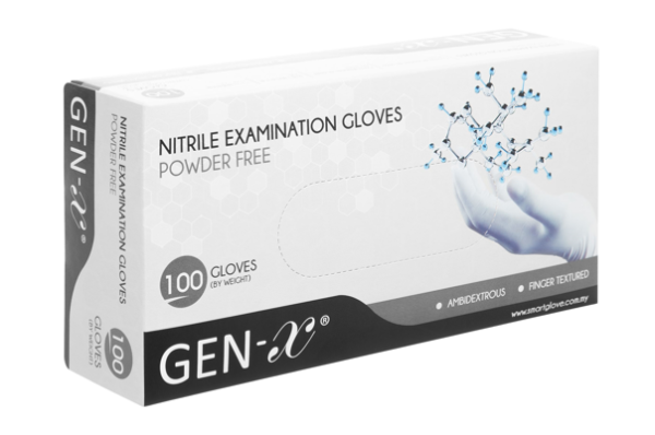 "Nitril Handschuh Gen-X ""XL"" blau"