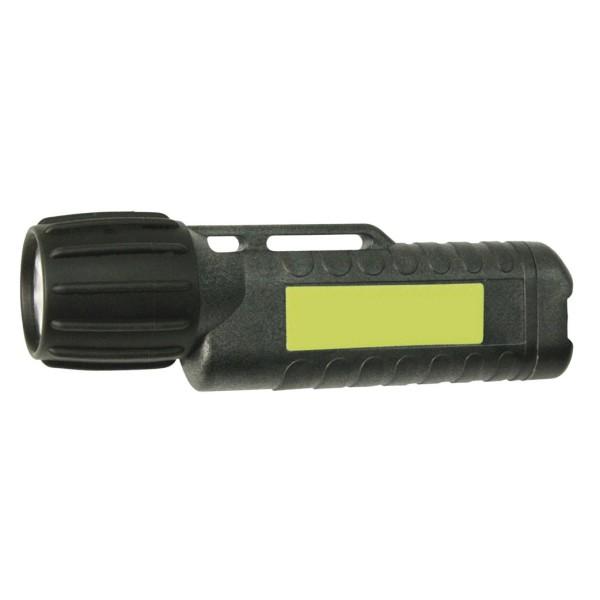 Taschen- und Helmlampe UK3AA  mit Heckschalter