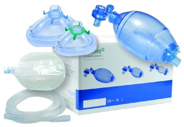 Beatmungsbeutel-Set aus PVC für Erwachsene
