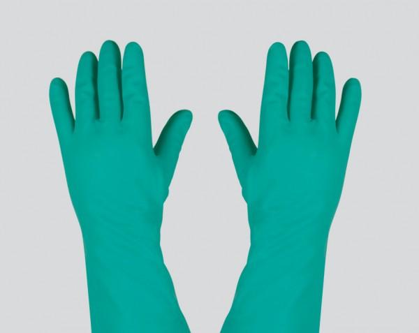 Schutzhandschuh grün aus Nitril