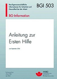 Anleitung zur Ersten Hilfe Heft 14,5cm x 12,5cm